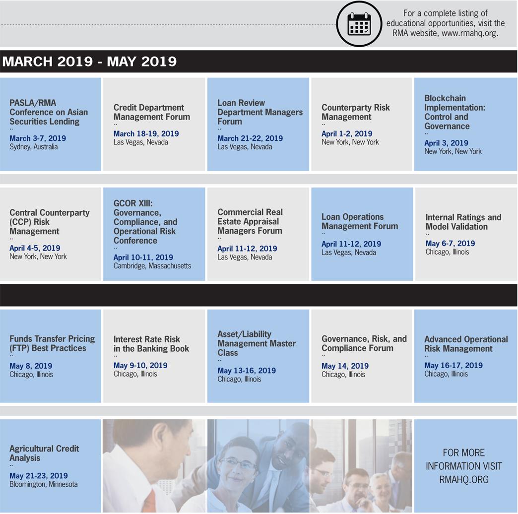 Las Vegas Calendar Of Events 2019 The RMA Journal   February 2019   CALENDAR OF EVENTS